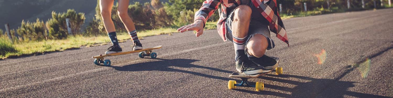 Skateboards und Inlineskates
